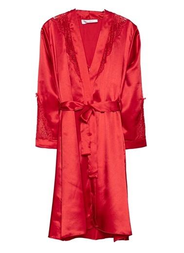 Dantelli Sabahlık Gecelik Saten Takım Versace